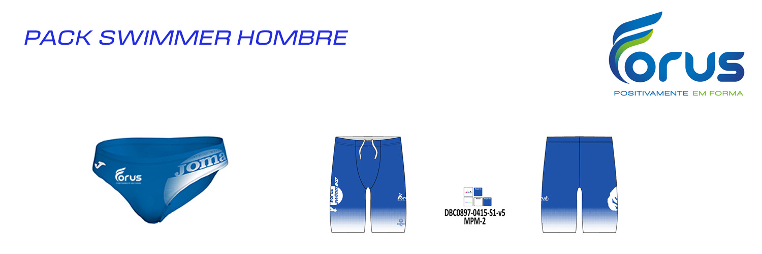 PACK SWIMMER HOMBRE  FORUS