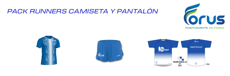 PACK RUNNER CAMISETA Y PANTALÓN HOMBRE  FORUS